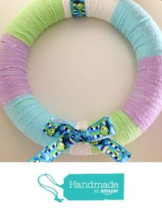 Monsters Inc Kids Bedroom Yarn Wreath from The Candy Cane Lady