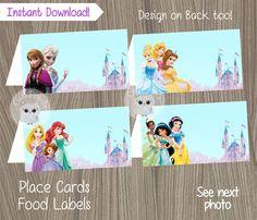 Disney+Princess+Place+Cards+Princess+Birthday+Disney+by+CutePixels