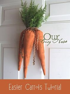 Easter carrots door decoration