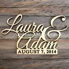 Couple Name sign Wooden Monogram Unpainted Home Decor Custom Wood Signs, Wooden Signs, Love Wooden Sign, Custom Metal, Parts Of The Letter, Monogram Painting, Name Day, Monogram Initials, Monogram Wedding
