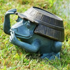 Working Frog Garden Statue Available at AllSculptures.com
