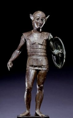 Etruscan bronze statuette of a warrior From Falterona mount, Florence, ca. 400 BCE
