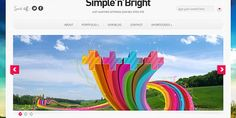 Simple'n'Bright is free colorful and elegant WordPress theme release from Best Free Wordpress Themes, Wordpress Theme Design, Premium Wordpress Themes, Wordpress Blogs, Free Portfolio, Blog Websites, Web Design, Free Photography, Website Themes