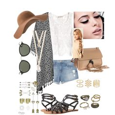 Cochella by empolyvoreallofthem on Polyvore featuring polyvore, fashion, style, H&M, J Brand, Topshop, Volcom, Gucci, Mudd, With Love From CA, Ray-Ban, MANGO, Maybelline, Hershesons and cochella