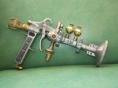 Neutron Splitter Gun - OOAK - STEAMPUNK sculpture - prop - cosplay RAY pistol