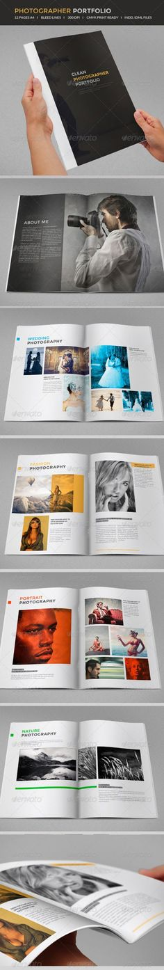Buy Photography portfolio by on GraphicRiver. 12 page professional, clean, brochure template Just drop in your own photos and texts. Kids Fashion Photography, Flash Photography, Architecture Texture, Koi, Indesign Brochure Templates, Photography Brochure, Fashion Design Portfolio, Behance, Photographer Portfolio