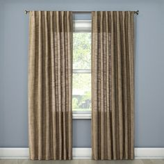 Textured Weave Window Curtain Panel