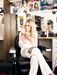 Chelsea Handler eating a cup of noodles