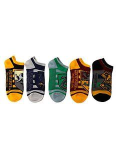 Harry Potter Hogwarts Striped No-Show Socks,