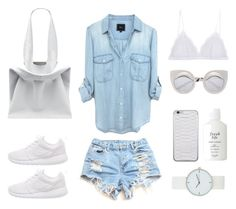 Minimal Denim by fashionlandscape on Polyvore featuring Mode, Cosabella, NIKE, Jil Sander and Fresh