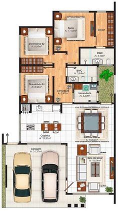 Modern home design Dream House Plans, Modern House Plans, Small House Plans, House Floor Plans, Home Design Plans, Plan Design, Story House, House Layouts, Architecture Plan