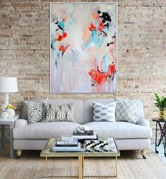 Abstract Floral Original Abstract Painting Abstract by Artzaro
