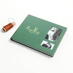 A beautifully created textured leather cover album with a premium designed customised box. Couple name embossed next to the photo windows on the album cover