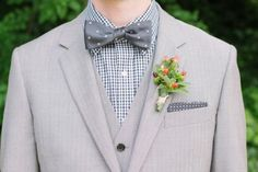 Patterned shirt for the groom
