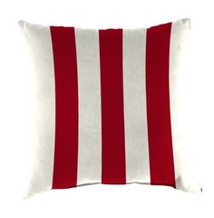 "I'm learning all about Essential Garden Cabana Stripe Red 16"" Patio Throw Pillow - JORDAN MFG CO at @Influenster!"