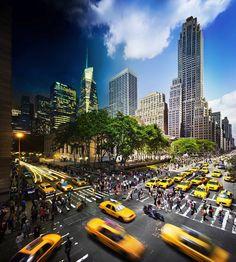 New York City, vue de jour et vue de nuit http://www.minutebuzz.com/culture--new-york-vu-de-jour-comme-de-nuit-sur-8-sublimes-montages-26141/