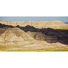 Light and shadows paint the landscape of badlands national park south dakota united states of america Canvas Art - Robert Postma Design Pics (21 x 11)