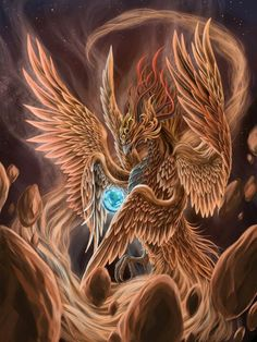 In referenced to Enoch חנוך 1:15. Phoenix is a celestial entity living with חלאךים.