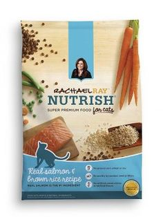 Rachael Ray Nutrish Natural Dry Cat Food, Salmon & Brown Rice Recipe, 6 lbs - I Heart My Cats Rachael Ray Cat Food, Salmon Cat, Chicken And Brown Rice, Brown Rice Recipes, Dry Cat Food, Pet Food, Food Food, Salmon Recipes, Dog Food Recipes