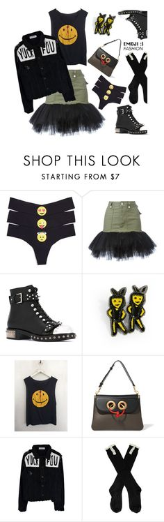 """""""Wink, Wink: Emoji Fashion'"""" by dianefantasy ❤ liked on Polyvore featuring Commando, Unravel, Alexander McQueen, J.W. Anderson, polyvorecommunity, polyvoreeditorial and emojifashion"""