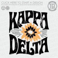 Delta theta w/Gardena flower Sorority Rush Shirts, Kappa Delta Shirts, Kappa Delta Sorority, Sorority Banner, Sorority Shirt Designs, Sorority Canvas, Sorority Outfits, Sorority Crafts, Sorority Recruitment