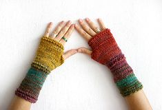 Unmatched fingerless gloves, that are unique woman accessory ! Perfect gift for her for any occasions - Christmas, birthday gift, Mothers day or St.Valentine. Colors ranging for this arm warmers are in all shades of magical autumn colors - cranberry, mustard, green, purple, teal,