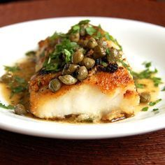 Simple Cod Piccata- a tasty, healthy and super easy cod recipe. I would like this with grouper too, or almost any white fish.