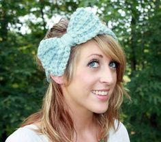 Glacier Blue Bow Headband