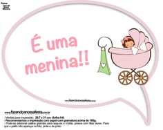 Plaquinhas Divertidas Chá de Bebê Menina 17 Clip Art, Baby Shower, Scrapbook, Pictures, Stuff To Buy, Girls, Ideas Party, Baby Shower Signs, Printing Plates
