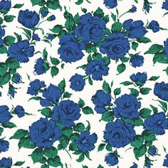 Liberty Tana Lawn Fabric Carline C Blue - Alice Caroline - Liberty fabric, patterns, kits and more - Liberty of London fabric online Liberty Of London Fabric, Liberty Fabric, Liberty Print, Silver Color Palette, Lawn Fabric, Blue Roses, Love Wallpaper, Fabric Online, Flower Wall