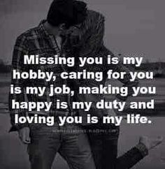 "Top 63 I Miss You Sayings On Missing Someone Quotes ""Missing someone is not tolerable one in human life. Love Quotes For Her, Missing Someone Quotes, Happy Love Quotes, Romantic Love Quotes, Quotes For Him, Be Yourself Quotes, Great Quotes, Care For You Quotes, Miss My Husband Quotes"