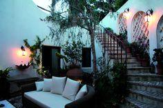 Terraces in Capri. The charm of a secret garden.
