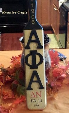 Alpha Phi Alpha Fraternity paddle. Kreative Crafts