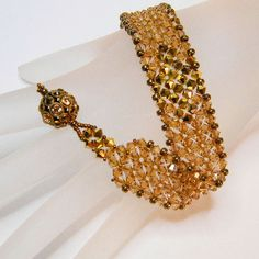 Free Beaded Jewelry Tutorials | make this bead woven cuff in an afternoon with this beading tutorial