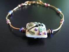 """Dragonfly Lampwork Pillow Bead Delicate and Feminine by prodigirl, $22.00 / 20% OFF EVERYTHING IN THE STORE SALE - Type in """"MOTHERSDAY"""" at checkout to receive your discount."""