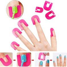April Ya 26pcs Reusable Nails Edge Skin Barrier Nail Polish Stencils Kit Manicure Nail Art ** To view further for this item, visit the image link.