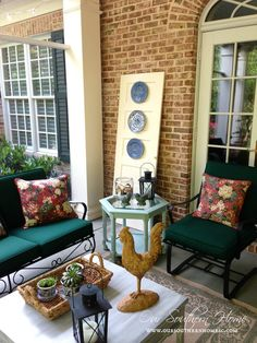 Painting outdoor furniture:  Our Southern Home, blog www.oursouthernhomesc.com