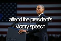 attend the president's victory speech.