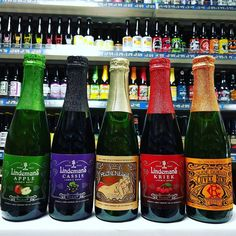 New beer. Apple Black Cherry Peach Kriek Lambic Beer and Oude Gueuze Cuvee Rene from @LindemansBeers in stock now