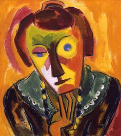 "Karl Schmidt-Rottluff - portrait of Emy, otro miembro de ""Die Brücke"" impresionismo alemán Modern Art, Expressionist Artists, Expressionist Painting, German Expressionist, Expressionist Art, Ernst Ludwig Kirchner, Degenerate Art, Painting, Art"