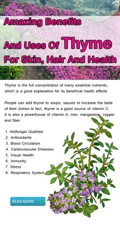Health benefits of Thyme: Maybe you don't know amazing benefits and uses of Thyme for skin, hair and health