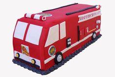 Firetruck Cake, Custom cakes by Modern Bite #cake #modernbite
