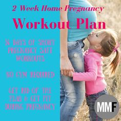 """Afraid Of Ruining Your Body?  14 Day Pregnancy Workout Plan    2 Weeks of Workouts  No Gym Required    """"You Can Still Tone Up During Pregnancy""""    Take the Challenge!"""