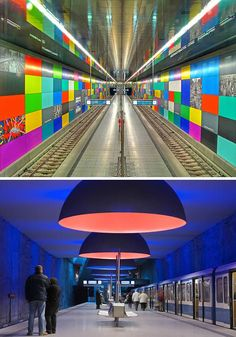 Munich Public Transport System (MVV) is a splendidly constructed system consisting of dozens of S-Bahn (suburbian trains), U-Bahn (subway), Tram-Bahn / Straßenbahn (streetcar) and bus lines, connecting all parts of the city perfectly. This metro system has been opened in 1972 and has spacious and clean stations. The earlier ones are rather minimalistic in design while the later ones got more interesting architectural features and some works of art. (Link | Photo 1 | Photo 2)