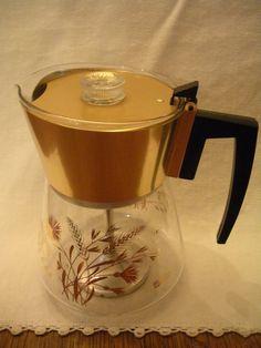 Vintage douglas glass coffee pot percolator