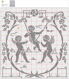 Gallery.ru / Фото #34 - 1 - gabbach Stitch And Angel, Cross Stitch Angels, Cross Stitch Love, Cross Stitch Charts, Cross Stitch Embroidery, Cross Stitch Patterns, Filet Crochet, Crochet Chart, Crochet Doilies