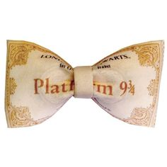Platform 9 3/4 Hogwarts Express Ticket Inspired Harry Potter Hair Bow or Bow Tie Geeky Fabric Bow $11.99 USD  https://www.etsy.com/listing/208133743/platform-9-34-hogwarts-express-ticket?ref=shop_home_active_6