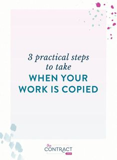Copied - The Contract Shop® - 3 Practical Steps to Take When Your Work is Legal Business, Small Business Accounting, Business Advice, Home Based Business, Business Entrepreneur, Business Planning, Successful Online Businesses, Time Management Tips, Working Moms