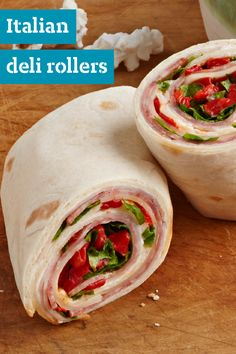 Italian Deli Rollers – Bringing fresh ingredients for lunch is easy with this tortilla roll-up recipe. Featuring turkey deli meat, salami, and roasted red peppers, there are so many flavors to enjoy.