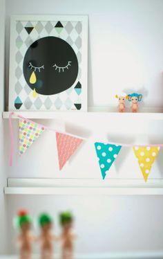 roomor! :poster in kid's room #Humpty Dumpty Room Decoration, garland,